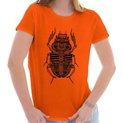 Ancient Egyptian Scarab Beetle Shirt Spirit Animal Cool Gift Ladies T Shirt