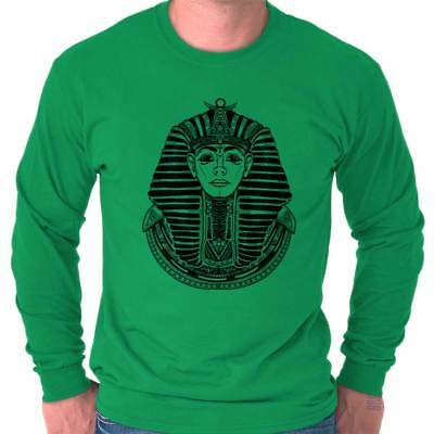 Ancient Egyptian Pharaoh Shirt | Mystic Scarab Symbol Tarot Long Sleeve T Shirt