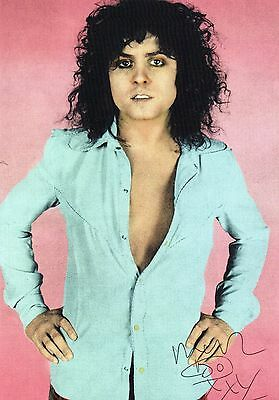 Marc Bolan T-Rex Repro Colour Print Signed A5 Postcard