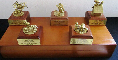 1992 Peanuts First Edition 5 Solid Bronze Sculpture Set - RARE! With Certificate