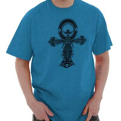 Ankh Cross Spiritual Ancient Egyptian Scarab Short Sleeve T-Shirt Tees Tshirts