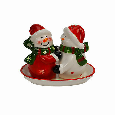 Christmas Snowman Salt & Pepper  Xmas Shaker