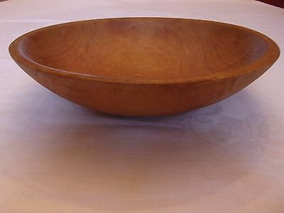 Vintage Parrish Chicago Wood Wooden Bowl Bread Oval 11 x 10 Old Nice Patina