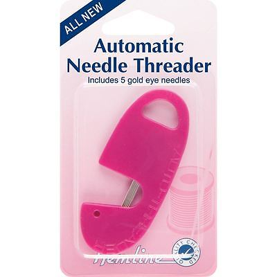 Hemline Automatic Needle Threader Sewing Quilting Tool Accessory Craft