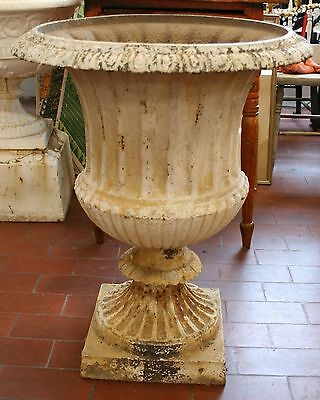 Antique Cast Iron Garden Urn 1 piece American