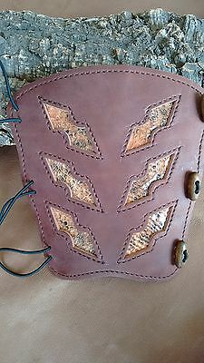 Leather archery arm guard,pigskin lined
