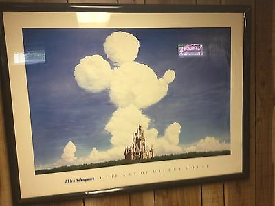 The Art of Disney Akira Yokoyama Mickey in the clouds over the Castle