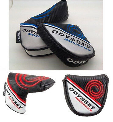 Original Odyssey Magnetic Works Mallet Blade Putter Cover Headcover UK Stock