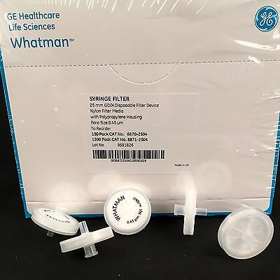 GE Whatman 25mm Syringe Driven Filter 0.45µm Nylon Membrane x 5 Free Shipping