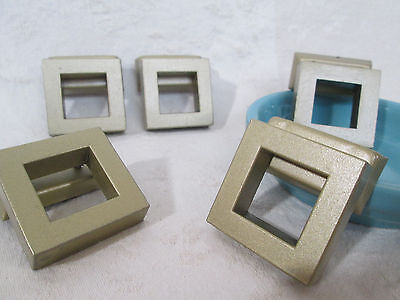 Drawer Pulls, Knobs ~ Mid Century Modern SQUARE Dresser/Cabinet Hardware Salvage