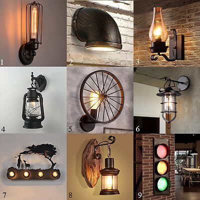 Iron Loft Style Industrial Wall Lamp Wall Sconce Light Lighting Fixtures Porch
