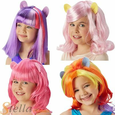 Child My Little Pony Equestria Girls Wigs Fancy Dress Costume Accessory