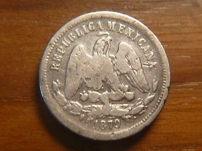 Mexico 1879 MoM, 25 Centavos, Silver, Some BlemIshes, SKU #8723