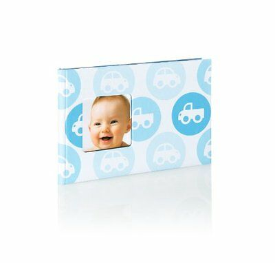 Pearhead Baby Brag Book Blue Cars Photo Album Holds 24 Photos NEW