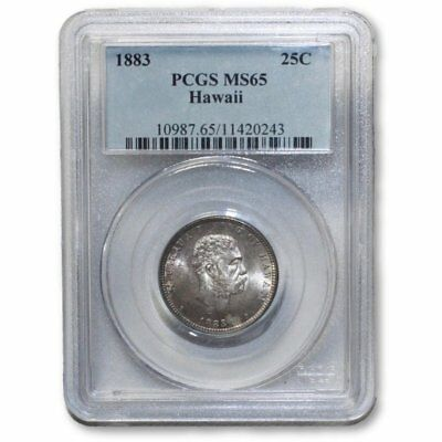 1883 Hawaii Quarter PCGS MS65  ***Rev. Tye's Stache** #0243550