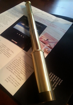 Concorde British Airways booklet and In-Flight Gift Telescope Super Cool 1980's