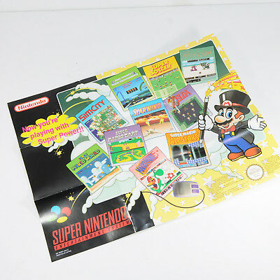 Super Nintendo Now You're Playing With Super Power Poster / Flyer - RETRO - SNES
