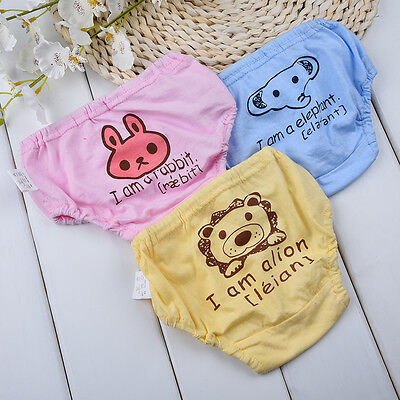 Animals Prints Baby Child Potty Training Cute Pants Cloth Diaper Underwear