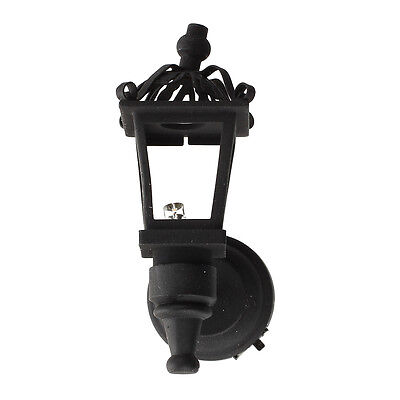 Black Metal 1/ 12 Dollhouse Miniature LED Wall Light Model K5E8