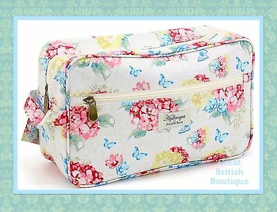 Gorgeous Chic Vintage Floral Large Cosmetic/Wash Bag- Hydrangea by Jennifer Rose