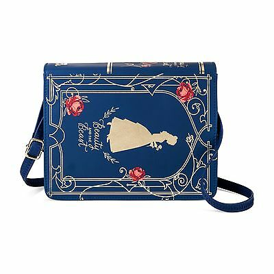 NWT DISNEY TARGET BEAUTY and the BEAST Book Purse Navy Rose Bag Belle Jacqueline