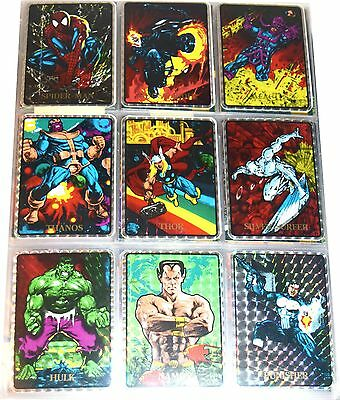 1992 Marvel Masterpieces Vending Machine Prizm Sticker Lot 14 Mns009