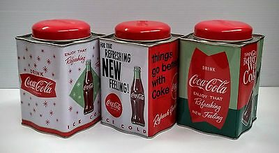Coca-Cola  Tin Containers (Set of 3) - NEW