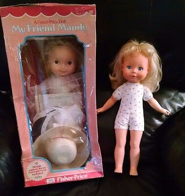 Vintage Fisher-Price My Friend Mandy Doll Two Outfits Pattern Original Box 1970s