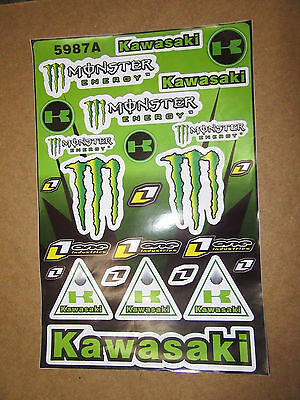 Kawasaki Monster Energy Drink Decal Stickers, **FREE SHIPPING** Large Page