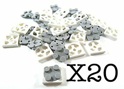 Lego 20 Turntable 2 x 2 Plate Complete Assembly with Light Bluish Gray Top NEW