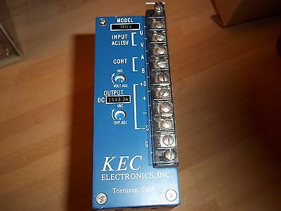 KEC SA15-3 Power Supply with Adjustable Over Voltage Protection 15V 3.3A