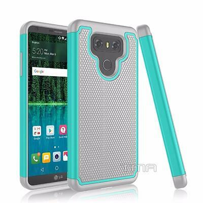 Fits LG G6 Case Shockproof Rugged Rubber Impact Hybrid Hard Armor Cover - Teal