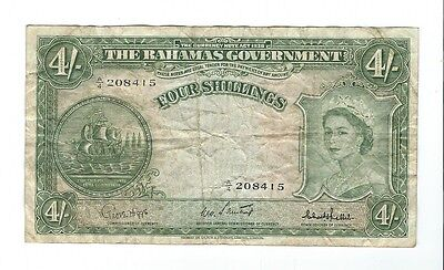 Bahamas - 1954, Four (4) Shillings