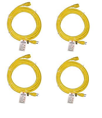 BYBON(4PACK)15ft Indoor Extension Cord SJT 14AWG/3C Heavy Duty UL Listed