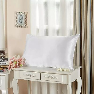 Silk 100% 19 Momme Charmeuse Silk Pillowcase with Cotton Underside Ivory White