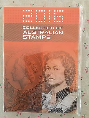 Collection of 2016 Australian Post Year Book Album with Stamps - Deluxe Edition
