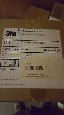 3M cushion-mount plus 1115 plate mounting tape  18 in x 25 yd new