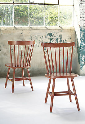 Ashley D389-03 Bantilly Orange Finish Spindle Back Side Chair Set Of 2