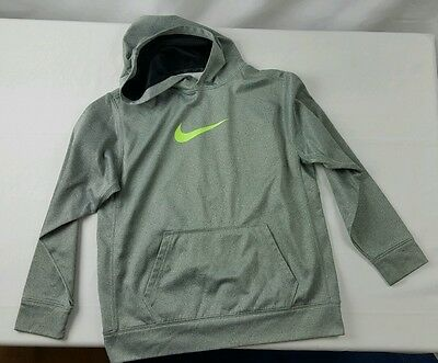NIKE Therma Fit Hoodie/Sweatshirt Youth Size XL Gray/Green