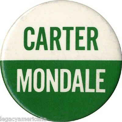 Larger 1976 Carter Mondale Campaign Logo Button (4779)