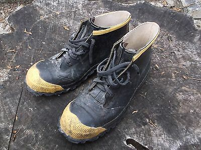 Steel Toe Rubber Work Boots Men's Size 10 Made In U.s.a.
