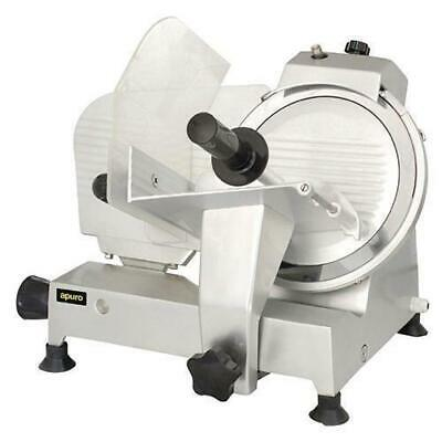 Meat Slicer, Anodized Aluminium Body, Commercial Quality, 250mm Blade, Apuro