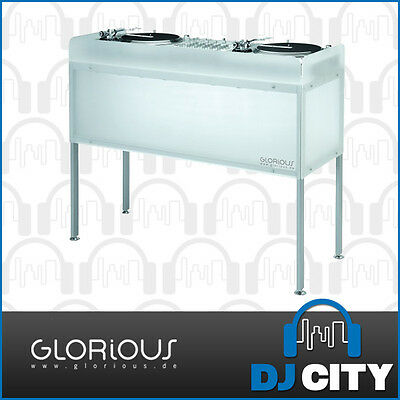Cockpit deLuxe DJ Furniture Glorious DJ Workstation Desk Table with Frosted P...