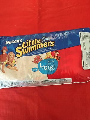 Huggies Little Swimmers Swim Nappies Large 14Kg+ 10 Sealed Pack