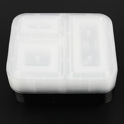 10/20pcs Microwavable Meal Prep Containers Plastic Food Storage Reusable Box