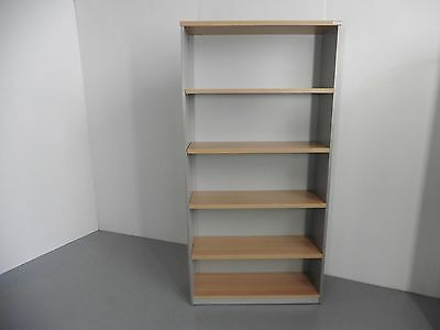Office (New) 1800Mm Bookcase Light Beech / Silver Brisbane