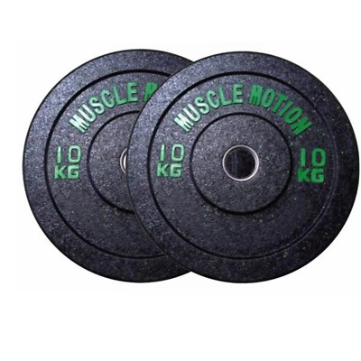 Pair Of 10Kg High Temp Bumper Plates For Gym Exercise Weight Lifting