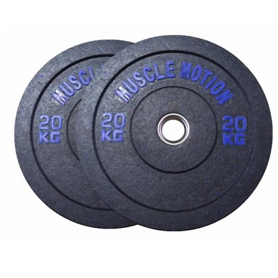 Pair Of 20Kg High Temp Bumper Plates For Gym Exercise Weight Lifting
