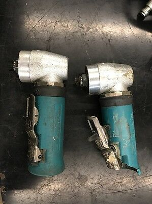 DYNABRADE  RIGHT ANGLE PNEUMATIC DIE GRINDERS - LOT OF 2, For Parts 20K RPM