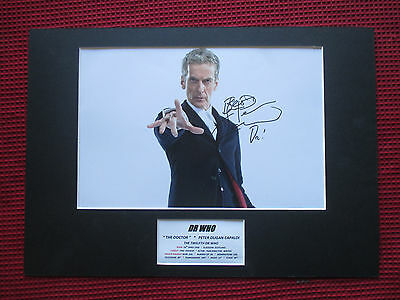 Dr Who Actor Peter Capaldi Authentic Hand Signed A3 Mounted Photo Display - Coa